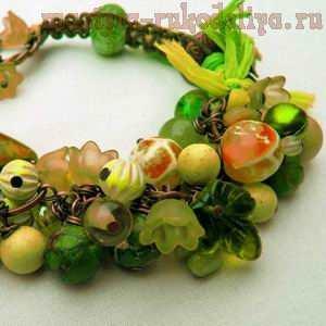 Акриловые бусы и цветы для изготовления бижутерии