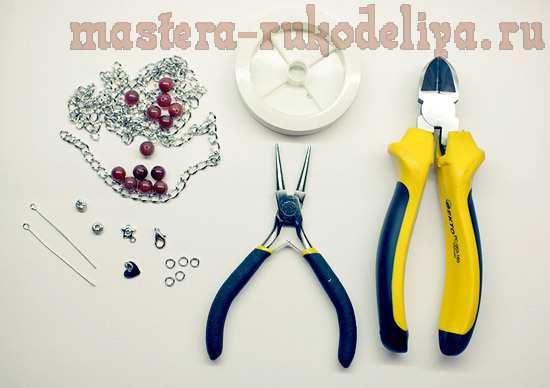 Мастер-класс по сборке бижутерии: Браслет из сердолика