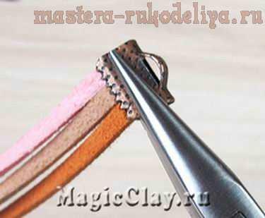 Мастер-класс по сборке бижутерии: Плетение браслетов из замшевых шнуров