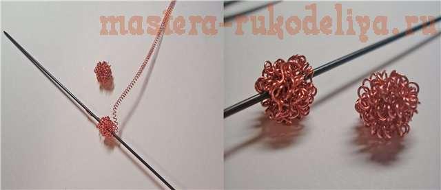 Мастер-класс: Комплект Желуди из проволоки и запекаемых гранул для стекла