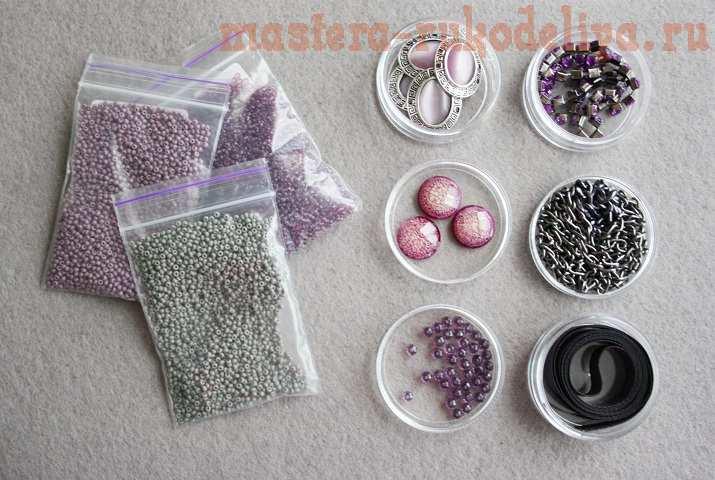 Мастер-класс по сборке бижутерии: Колье; Violet dreams.