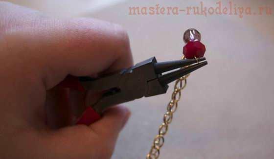 Мастер-класс по сборке бижутерии: Колье День Святого Валентина