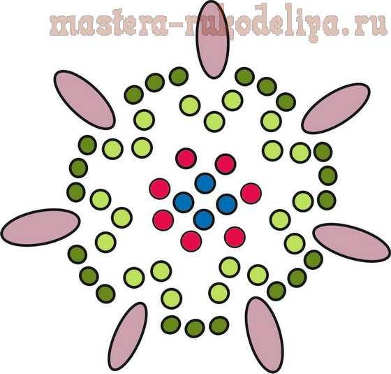 Мастер-класс по бисероплетению: Брошь или кулон; Эльфийская звезда.