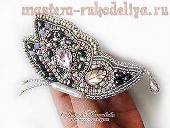 Мастер-класс по вышивке бисером: Брошь; Лунная бабочка.