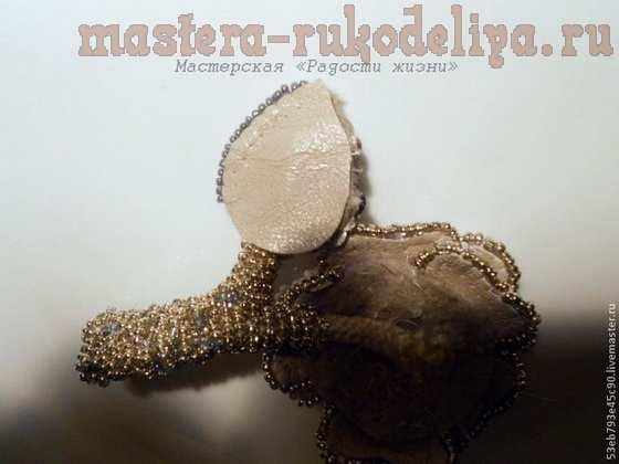 Мастер-класс по вышивке бисером: Брошь-цветок из отдельных элементов