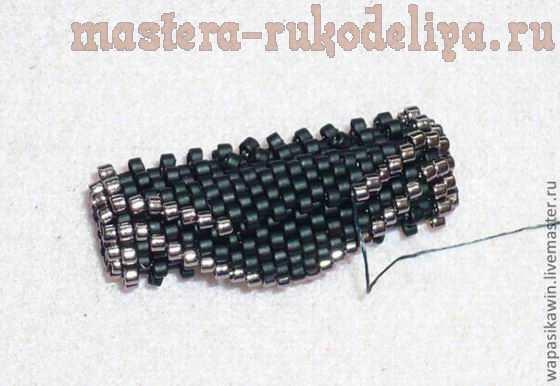 Мастер-класс по бисероплетению: Плетеная из бисера бусина с уголками