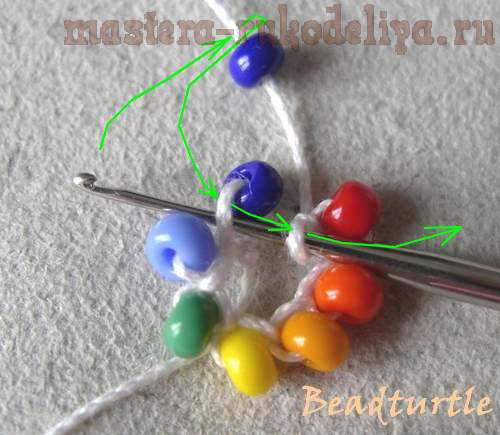 Мастер-класс по бисероплетению: Вязание жгутов полустолбиком