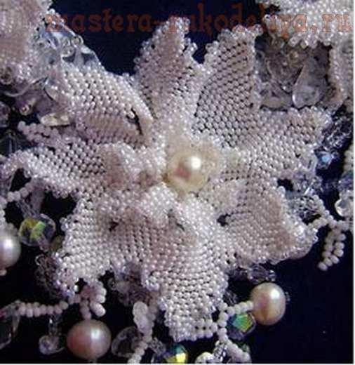 Мастер-класс по бисероплетению: Колье; Свадебные цветы.