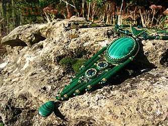 Мастер-класс по бисероплетению: Колье «The Green Goddess»