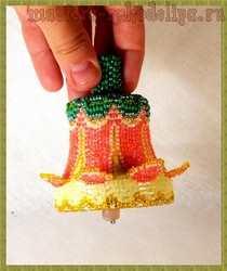 Мастер-класс по бисероплетению: Колокольчик бисерный оплетённый