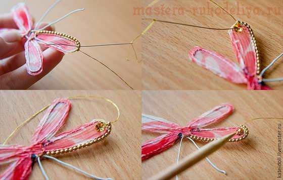 Мастер-класс по вышивке бисером: Делаем симпатичную брошь-стрекозку