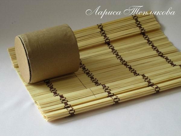 Мастер-класс: Кашпо из бамбуковых салфеток и консервных банок
