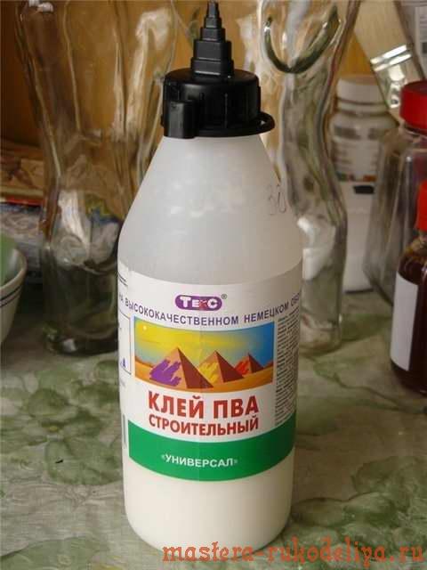 Мастер-класс: Декор бутылки - драпировка плюс декупаж