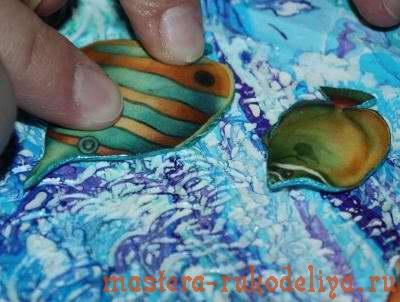Мастер-класс по декупажу: Часы с объемными рыбками