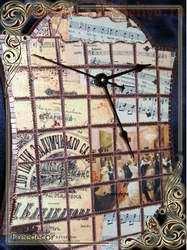 Мастер-класс по декупажу: Часы в технике; Мозаика из бумаги.