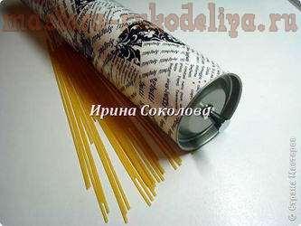 Мастер-класс по декопатчу: Спагетница