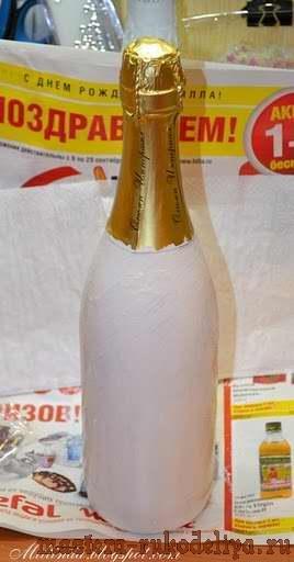 Мастер-класс: Декупаж Новогоднего шампанского