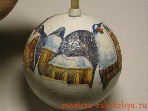Мастер-класс: Декупажный шарик; Рождественская ярмарка.