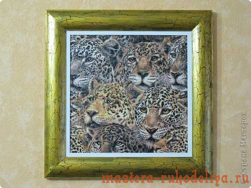 Мастер-класс по декупажу: Картина с леопардами