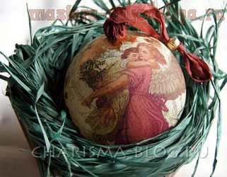 Мастер-класс по декупажу: Новогодний шар Богемная рапсодия