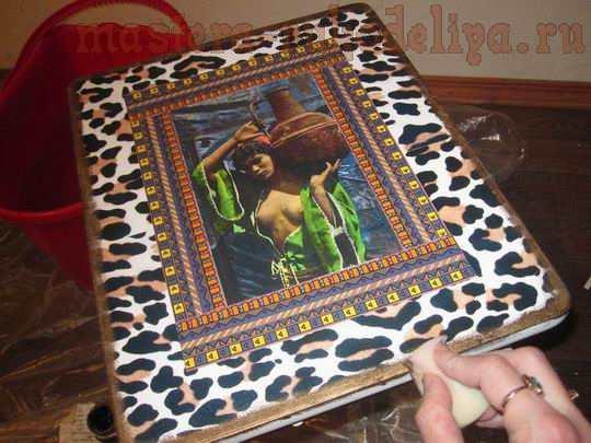 Мастер-класс по декупажу: Табуретка Африканская сказка