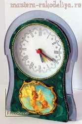 Мастер-класс по декупажу на пластике: Антикварные часы; Ангельская рапсодия.