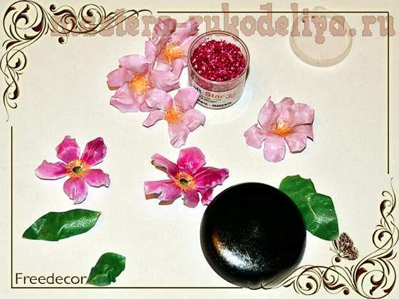Мастер-класс по поделкам из термопластика: Брошь; Весенние цветы.