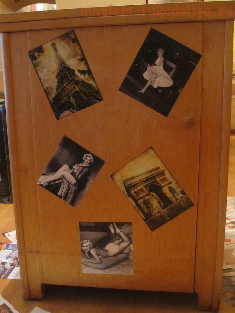 Мастер-класс по декупажу: Декор тумбы под телевизор
