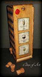 Мастер-класс по декупажу на дереве: Футляр для вина Домино