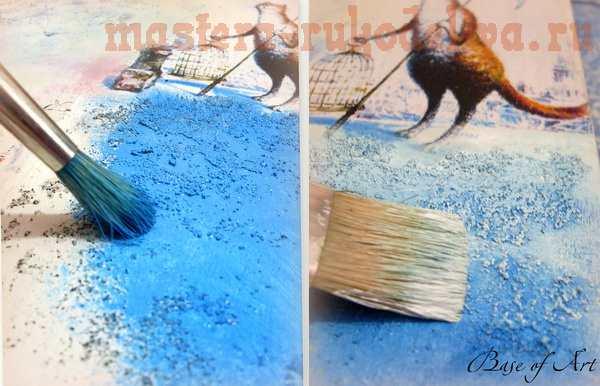 Мастер-класс по декупажу на дереве: Фолиант; Зимняя сказка.