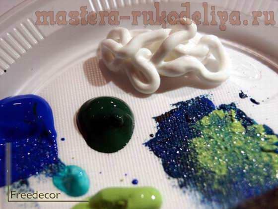 Мастер-класс по декупажу: Имитация живописи мастихином