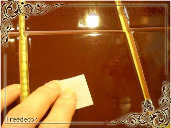 Мастер-класс по декупажу на стекле: Кафельное панно