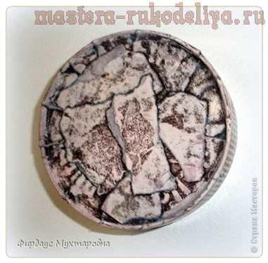Мастер-класс по декупажу: Декупаж с эффектом каменной поверхности