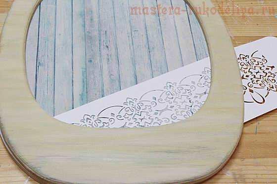 Мастер-класс по декупажу на дереве: Часы с лавандой