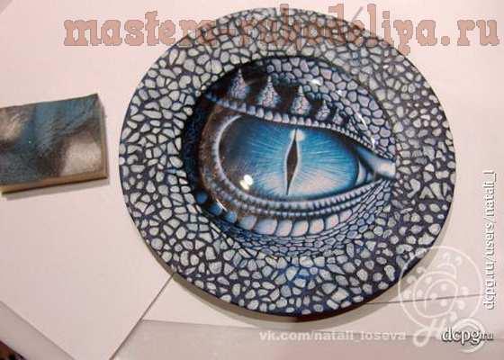 Мастер-класс по декупажу на стекле: Интерьерная тарелка «Драконы зимних ночей»