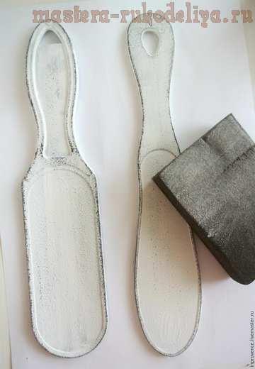 Мастер-класс по декупажу на пластике: Интерьерные таблички из инструментов для педикюра