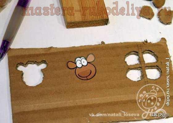Мастер-класс по объемному декупажу на пластике: Ёлочная игрушка «Барашка-Ромашка»