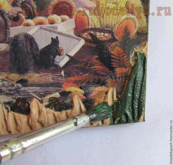 Мастер-класс по декупажу на дереве: Ключница-вешалка; Медвежата.
