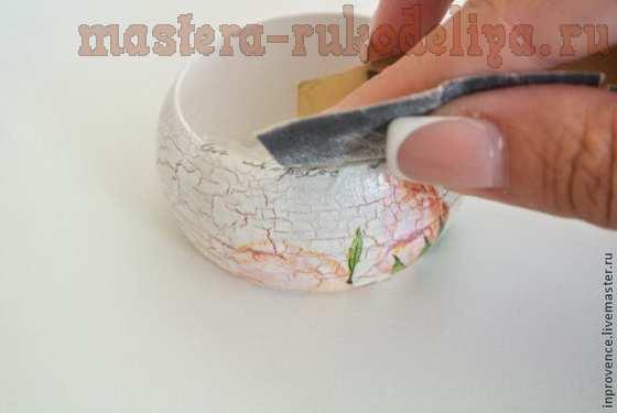 Мастер-класс по декупажу на дереве: Кольца для салфеток в стиле; Шебби-шик.