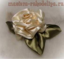 Мастер-класс: Как сделать розу из лент (ткани) своими руками — 4 способа