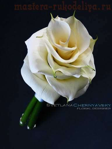 Видео мастер-класс по флористике: Свадебный букет - гламелия из калл - калломелия