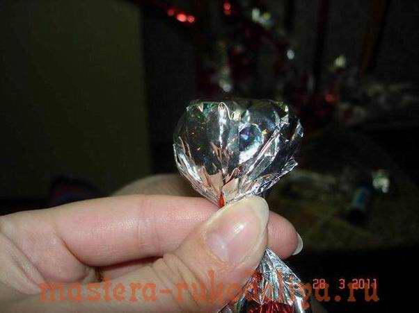 Мастер-класс: Букет из конфет - Алые брызги