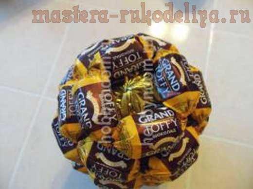 Мастер-класс по букетам из конфет: Ананас