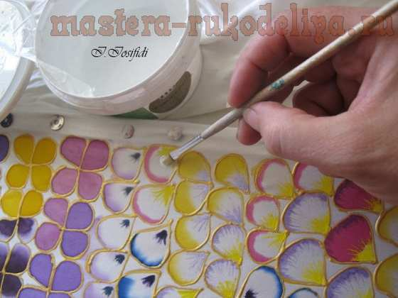 Мастер-класс по созданию цветов из ткани: Анютины глазки
