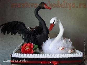 Мастер-класс по свит-дизайну: Лебеди Black and White