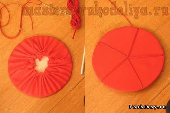 Мастер-класс по созданию цветов из ткани: Большой красный цветок
