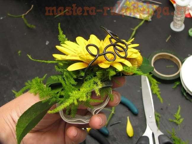 Фото мастер-класс по флористике: Браслет из живых цветов