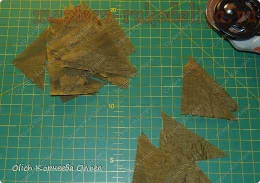 Мастер-класс по созданию цветов из ткани: Брошка; Хризантема.