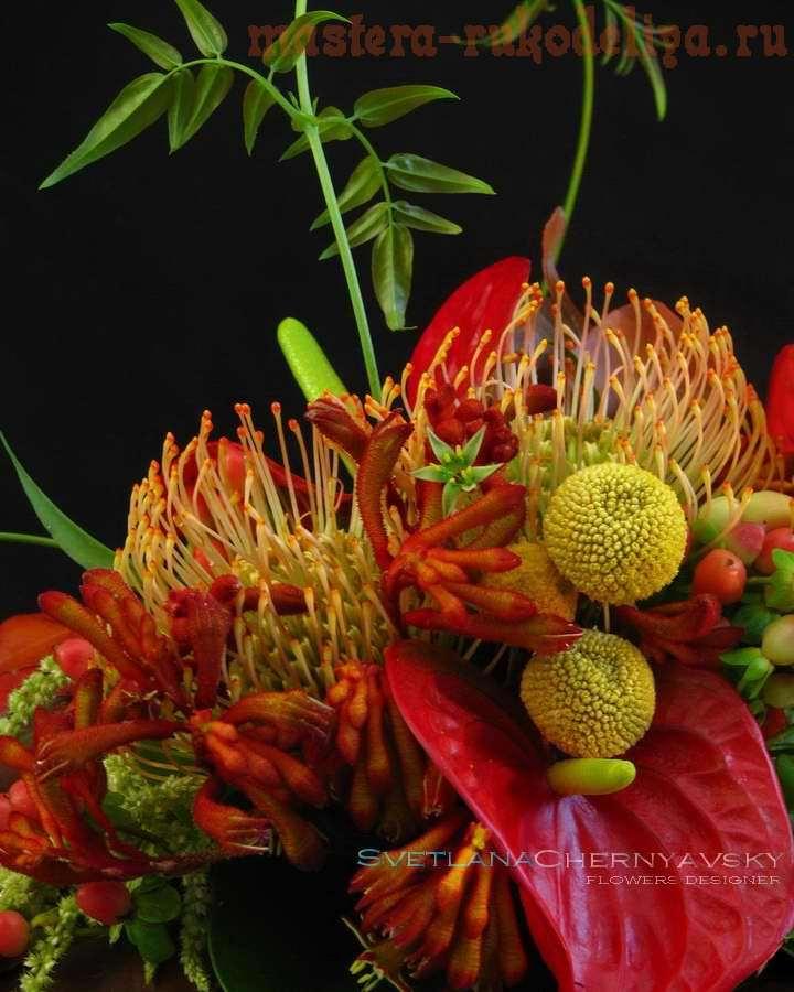 Фото мастер-класс по флористике: Букет на каркасе