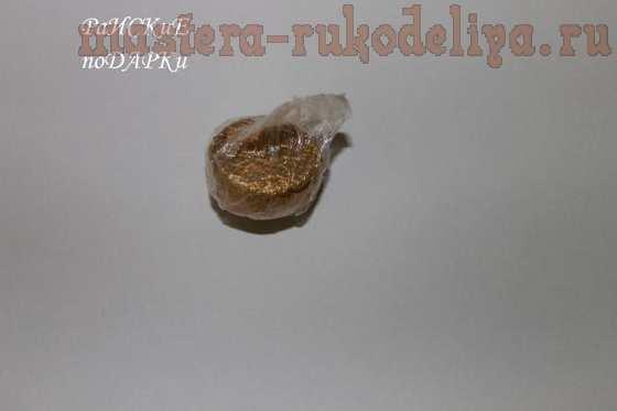 Мастер-класс по букетам из конфет: Бутон розы с конфеткой из гофробумаги
